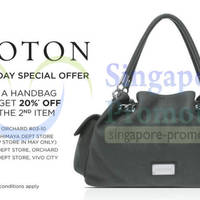 Read more about Oroton 20% OFF Second Item Promotion 9 May 2014