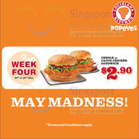 Read more about Popeyes $2.90 Creole / Cajun Chicken Sandwich Promo 26 - 30 May 2014