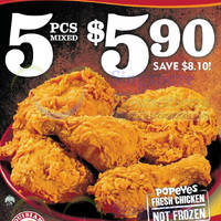 Read more about Popeyes $5.90 5pcs Chicken One Day Promo 1 Jun 2014