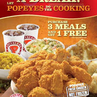 Read more about Popeyes Buy 3 Meals & Get 1 FREE Promo 7 - 11 May 2014