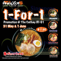 Read more about Ramen Kagetsu Arashi 1 For 1 Promo @ The Cathay 31 May - 1 Jun 2014