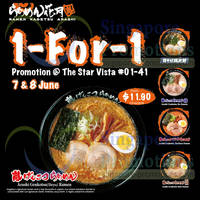 Read more about Ramen Kagetsu Arashi 1 for 1 Promo @ Star Vista 7 - 8 Jun 2014
