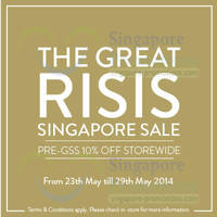 Read more about Risis 10% OFF Storewide Pre GSS Promo 23 - 29 May 2014