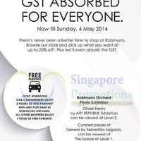 Read more about Robinsons 20% OFF GST Absorbed Sale 1 - 4 May 2014