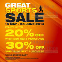 Read more about Royal Sporting House Up To 30% OFF Storewide Sale 16 May - 6 Jul 2014