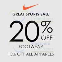 Read more about Nike 15% - 20% OFF Promo @ Jurong Point From 23 May 2014