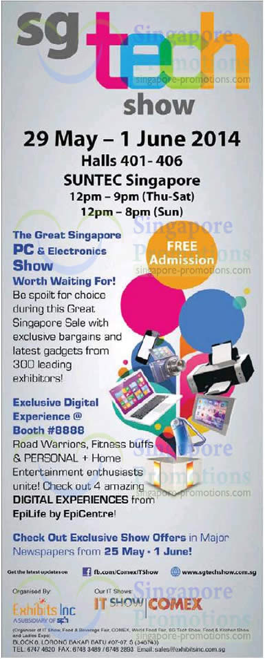 SG Tech Show 21 May 2014