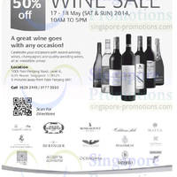 Read more about SUTL Up To 50% OFF Wine SALE 17 - 18 May 2014
