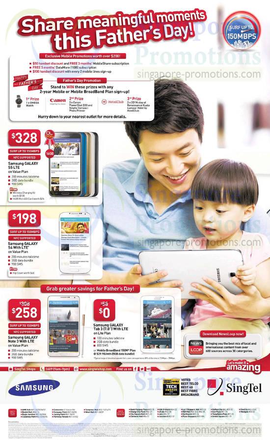 Samsung Galaxy S5, Samsung Galaxy S4, Samsung Galaxy Note 3, Samsung Galaxy Tab 3 7.0