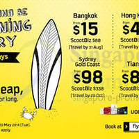 Read more about Scoot Airlines From $15 2hr Promo Air Fares 20 May 2014