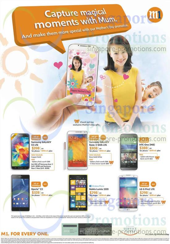 Sony Xperia Z2, LG G Pro 2, Nokia Lumia 1520, HTC One M8, Samsung Galaxy S5, Note 3