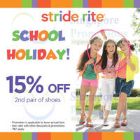 Read more about Stride Rite 15% OFF 2nd Pair Promo 30 May - 29 Jun 2014