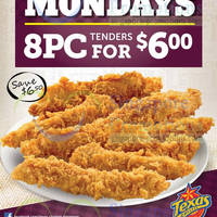 Read more about Texas Chicken $6 8pc Tenders Mondays Promo 5 May - 11 Aug 2014