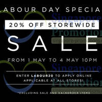 Read more about Tracyeinny 20% OFF Storewide SALE @ All Outlets 1 - 4 May 2014