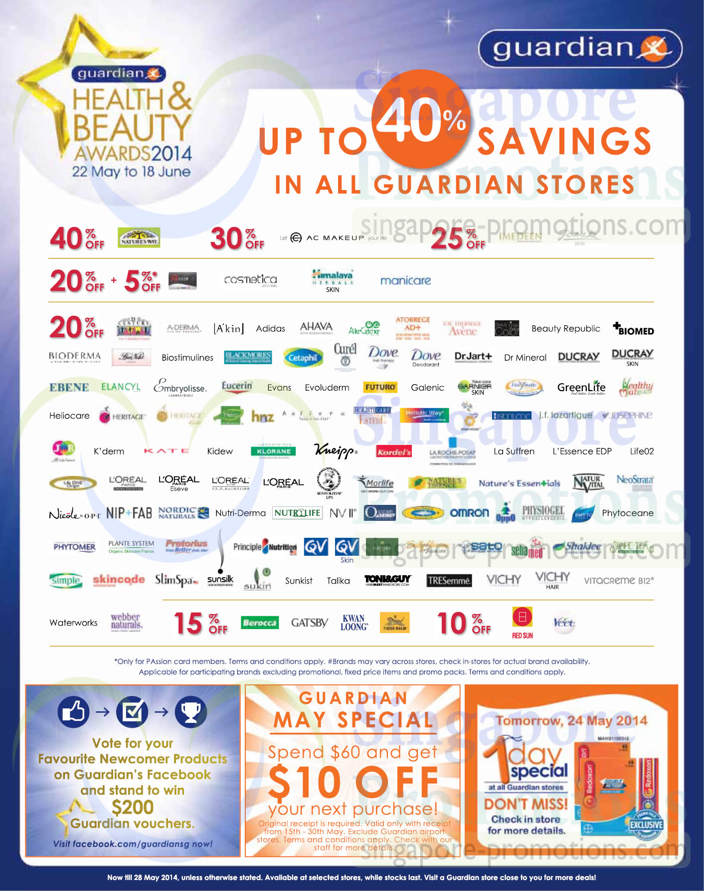 Up To 40 Percent Off Selected Brands, Spend 60 Dollars Get 10 Dollar Off