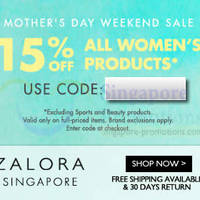 Read more about Zalora 15% OFF Women's Products Coupon Code (NO Min Spend) 10 - 11 May 2014