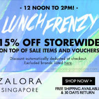 Read more about Zalora 15% OFF Storewide 2hr Flash Sale (12pm - 2pm) 23 May 2014