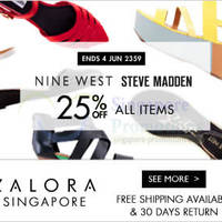 Read more about Steve Madden & Nine West 25% OFF Promo 26 May - 4 Jun 2014