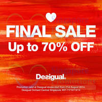 Read more about Desigual Up To 70% OFF Sale (Final Sale) 12 Jun 2014
