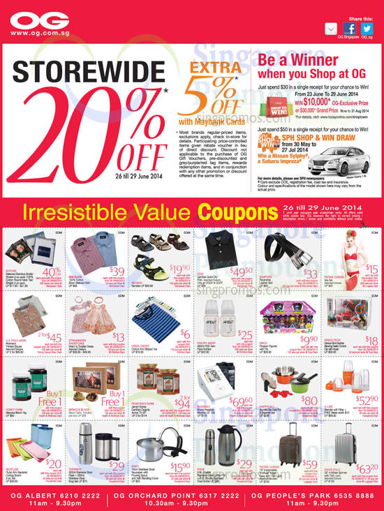 26 Jun Storewide 20 Percent Off, Value Coupons