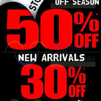 Read more about World of Sports 30% OFF New Arrivals & 50% OFF Off Season 15 Jun 2014