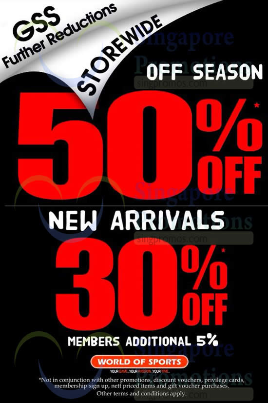 28 Jun Up To 50 Percent OFF GSS Further Reductions