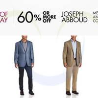 Read more about Joseph Abboud Over 60% OFF Men's Suits & Sport Coats 24hr Promo 27 - 28 Jun 2014