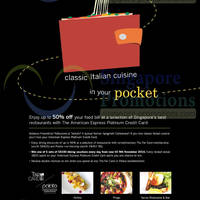 Read more about American Express Up To 50% OFF Italian Cuisine 9 Jun 2014