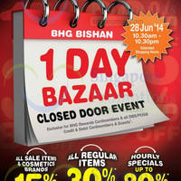 Read more about BHG Bugis 30% OFF Storewide 1 Day Bazaar 28 Jun 2014