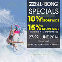 Read more about Billabong 10% OFF Storewide @ Isetan 27 - 29 Jun 2014