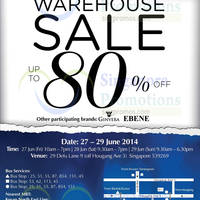Read more about Bio-Essence, Ebene & Ginvera Warehouse SALE 27 - 29 Jun 2014