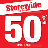 Read more about Bossini 50% Storewide Promo 5 - 8 Jun 2014