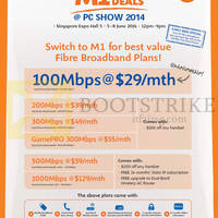 Read more about M1 PC SHOW 2014 Smartphones, Tablets & Home/Mobile Broadband Offers 5 - 8 Jun 2014