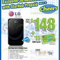 Read more about Starhub LG Optimus L1 II Dual Sim Prepaid Promo @ Cheers 1 - 30 Jun 2014
