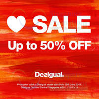 Read more about Desigual Up To 50% OFF Promo 12 Jun 2014