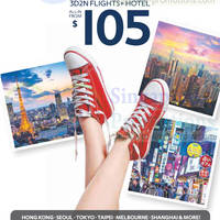 Read more about Expedia 3D2N From $105 (All-in, Flights+Hotel) Promo 17 - 30 Jun 2014