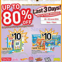 Read more about Giant Hypermarket Branded Toys SALE @ Tampines 20 - 22 Jun 2014