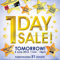 Read more about Guardian 1 Day SALE @ 51 Outlets 4 Jun 2014