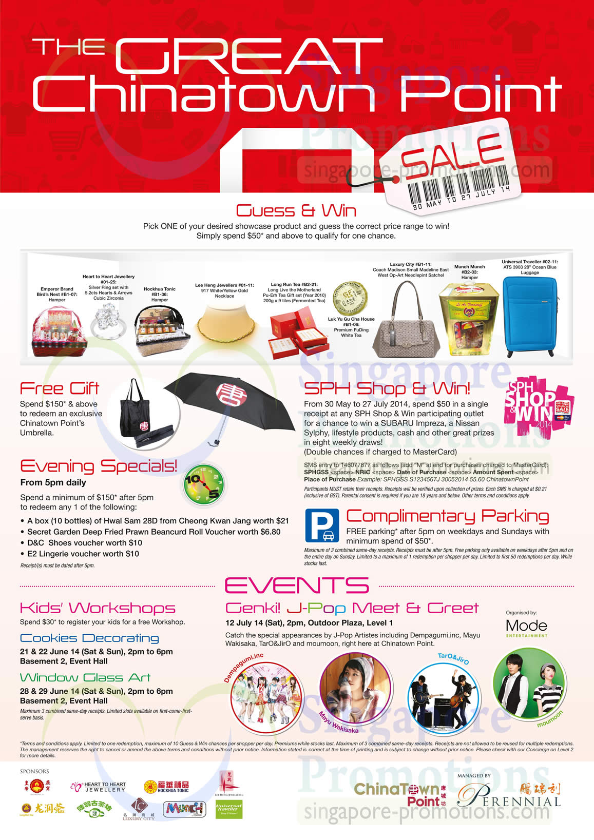Guess n Win, Free Gift, Free Parking, Evening Specials, Kids Workshop, Genki J-Pop Meet n Greet