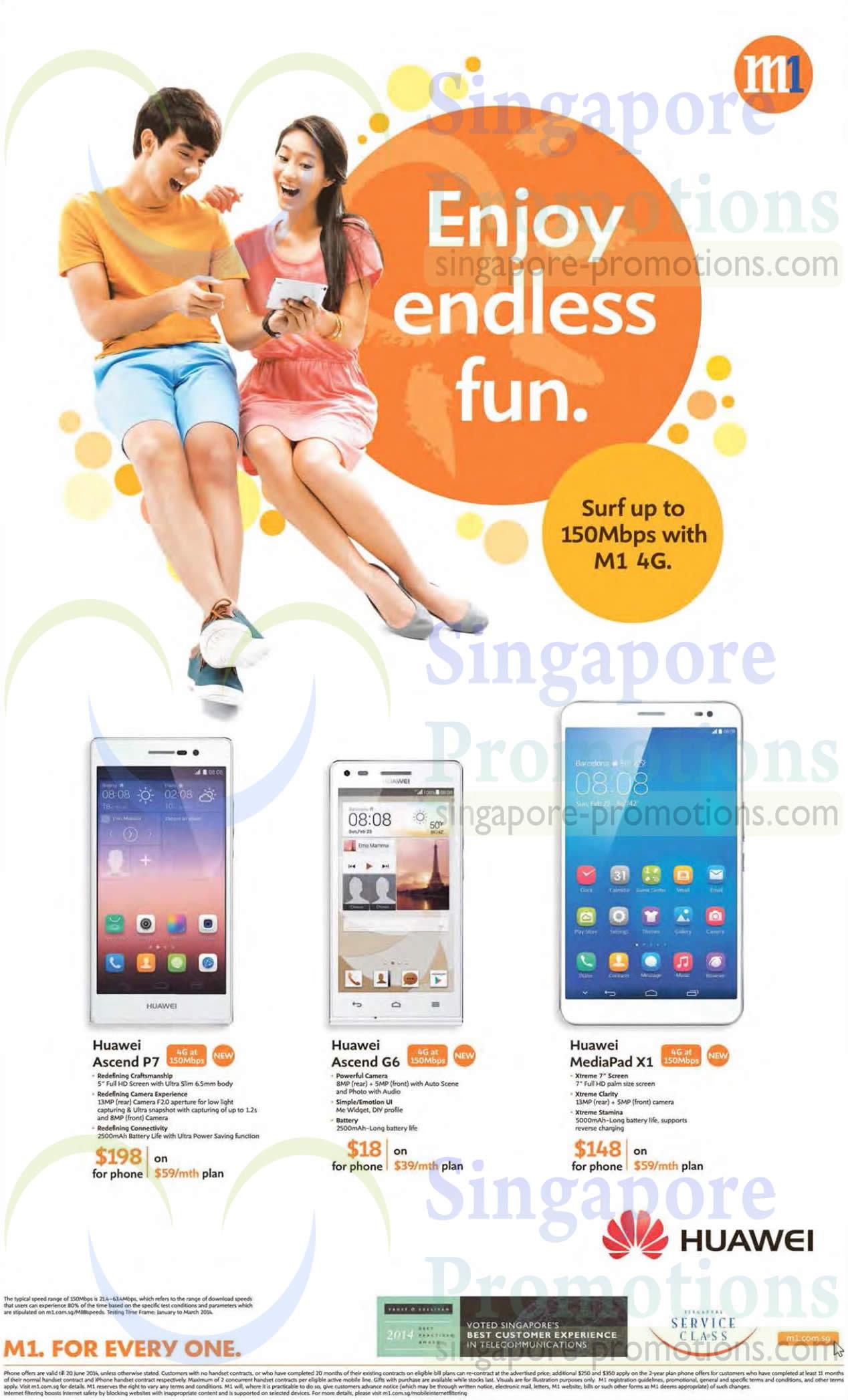 Huawei Ascend P7, Huawei Ascend G6, Huawei MediaPad X1