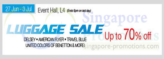 Isetan Luggage Sale 16 Jun 2014