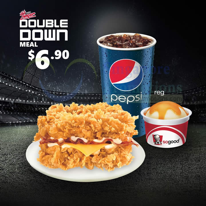 KFC Zinger Double Down Burger is BACK 4 Jun 2014 : KFC Zinger Double Down Meal from singpromos.com size 720 x 720 jpeg 88kB