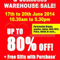 Read more about Branded Fragrance & Cosmetics Warehouse Sale 17 - 20 Jun 2014