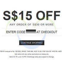 Read more about Luxola $15 OFF Storewide Coupon Code 13 - 16 Jun 2014