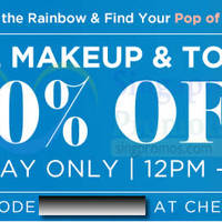 Read more about Luxola 30% OFF All Make-up Products (NO Min Spend) 2Hr Coupon Code 25 Jun 2014