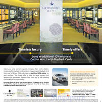 Read more about Cortina Watch 10% Rebate For Maybank Cardmembers 11 - 30 Jun 2014