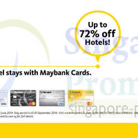 Read more about Agoda Up To 72% OFF Hotels For Maybank Cardmembers 9 - 30 Jun 2014