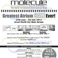 Read more about Molecule Atrium Sale @ Great World City 27 Jun - 7 Jul 2014
