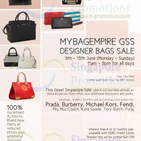 Read more about MyBagEmpire Branded Handbags & Accessories Sale @ Yew Tee Point 9 - 15 Jun 2014