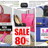 Read more about Nimeshop Branded Handbags Sale Up To 80% Off @ Mandarin Orchard 5 Jul 2014